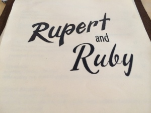 Rupert and Ruby's menu