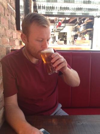 Co-Founder Phil enjoying a frosty pre-burger brew