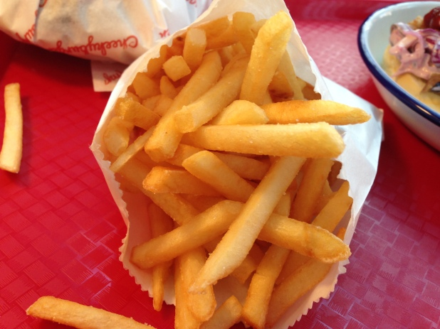 Shoestring fries. Just OK.